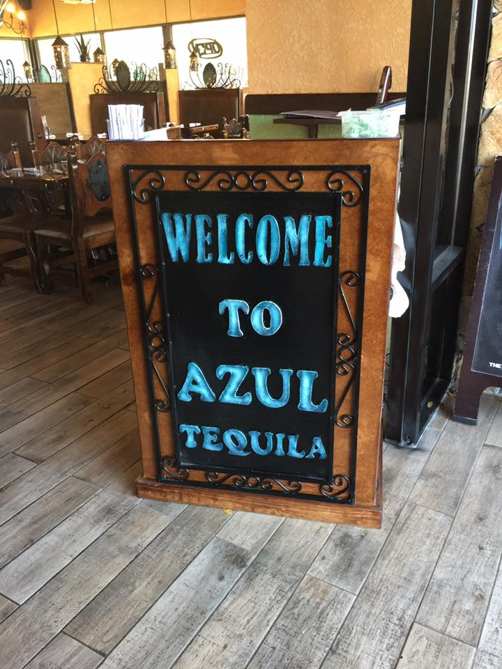 Welcome to Azul Tequila sign