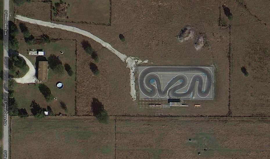 Google map view of racetrack