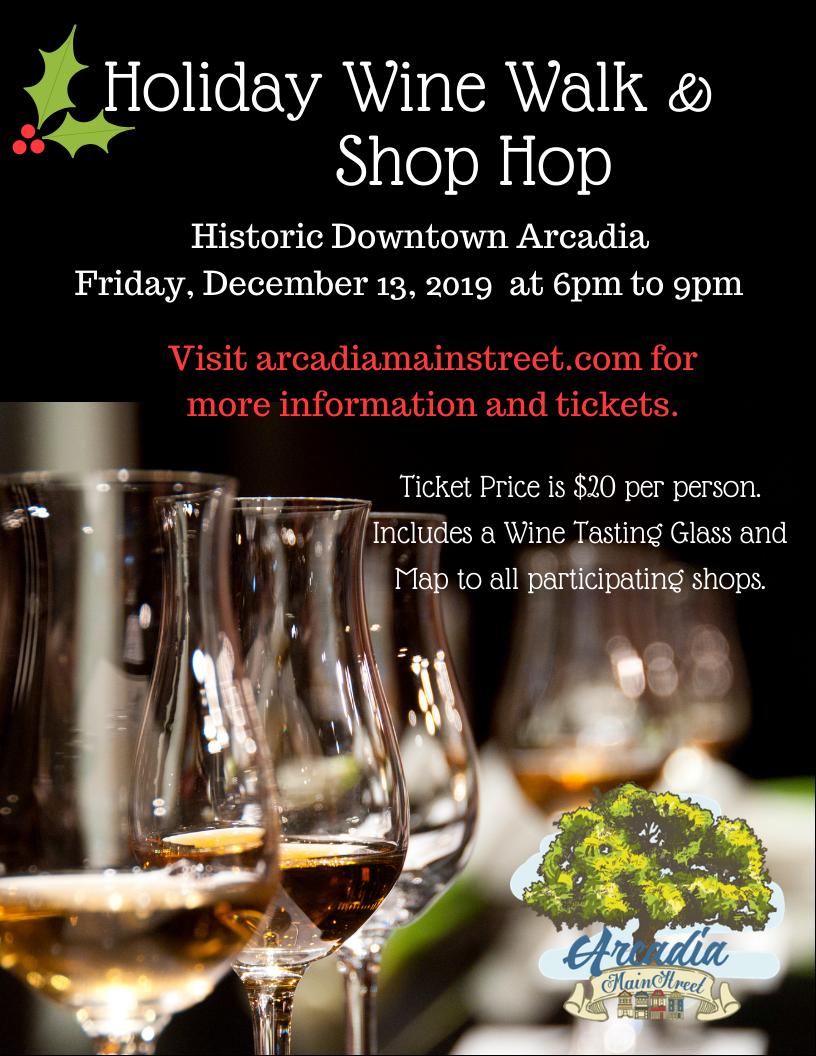 Holiday Wine Walk & Shop Hop